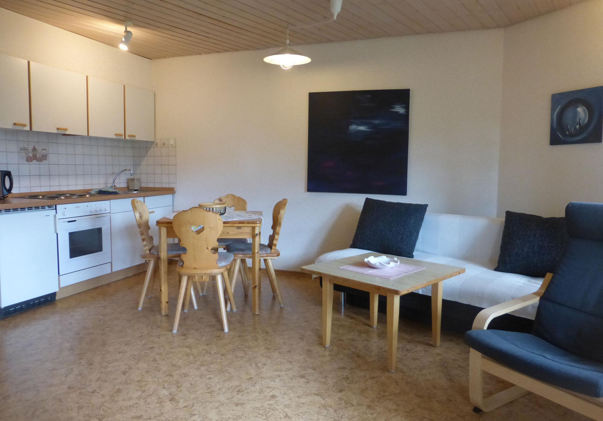Küche und Wohnraum_ Wohnung Nummer9